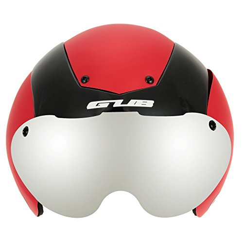 Unisex Cycling Helmet Ultralight Integrally-molded 13 Vents Bicycle Helmet Bike Skating 2 in 1 Helmet with Goggles - Red by New Brand