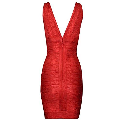 HLBCBG Gold Blau Kleid Damen Rot Gold rqzCraw