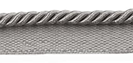 12 Yard Value Pack of 3/16 (.5cm) Grey, Basic Trim Lip Cord , Style# 0316S Color: Silver Grey - 049 (36 Ft / 11M) DecoPro