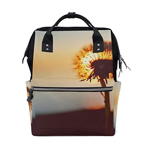 School Backpack Dandelion Flower Nature Sunset Wallpaper Bag Student Stylish Unisex Laptop Book Bag Rucksack for Teen Boys and Girls (Best Nature Wallpapers For Laptop)