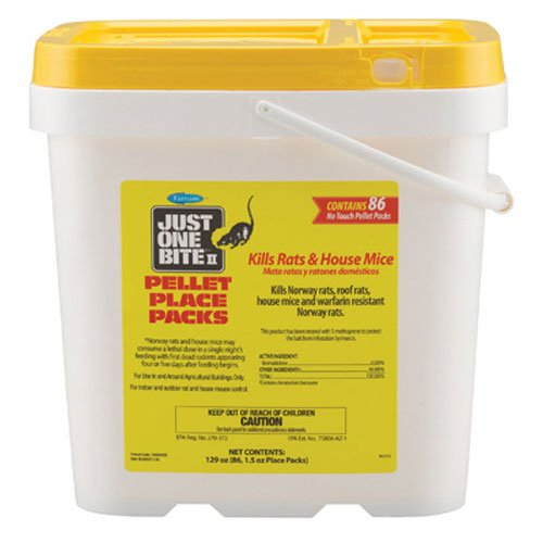 Farnam Just One Bite II 1.5-Ounce Pellet Packs, 86 Count (Best Rat Killer On The Market)