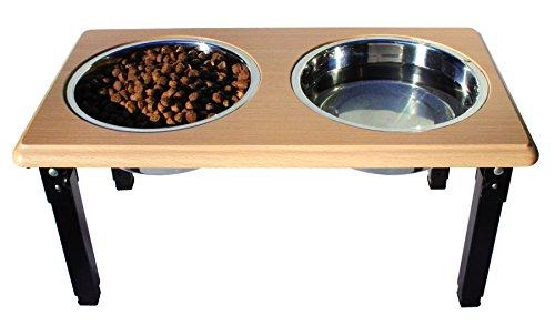 (Ethical Pets Posture Pro Adjustable Double Diner 2qt Brown)