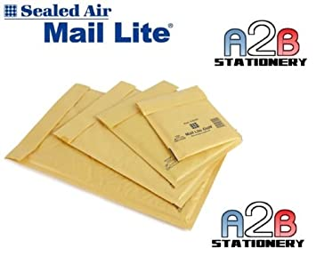 50 Mail Lite Gold A/000 Padded Bubble Envelope 110mm x 160mm or ...