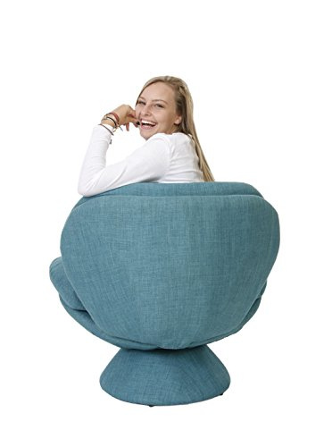 Mac Motion Comfort Chair Pub Leisure Accent Chair in Turquoise Fabric - 2