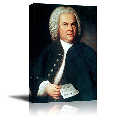 Portrait of Johann Sebastian Bach - Inspirational Famous People Series | Giclee Print Canvas Wall Art. Ready to Hang - 16