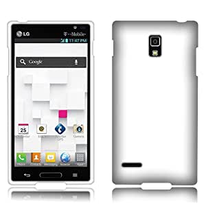Fincibo (TM) LG Optimus L9 P769 Hard Snap-On Protector Cover Case - White