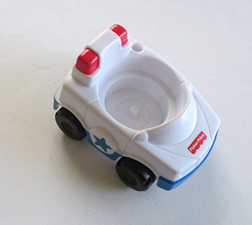 Fisher Price Little People White and Blue Police Car Replacement Toy