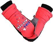KRATARC Winter Kids Ski Mitten Waterproof Gloves Windproof Snow Outdoors Sports Cold Weather Mittens for Boys