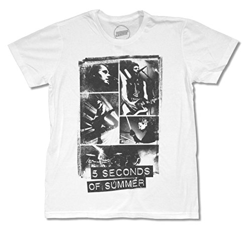 5 Seconds Of Summer ''Collage'' White T Shirt (Large) by 5 Seconds Of Summer