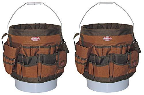 Bucket Boss 10056 Bucket Tool Organizer with 56 Pocket (Pack of 2)