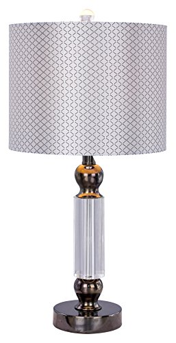 (m.r. lamp and shade W-m.r.5130BLKC Table Lamp, 23.75