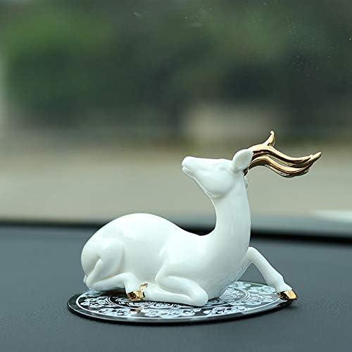 Decoraciones para autos ciervos decoración casera artesanía en cerámica 1