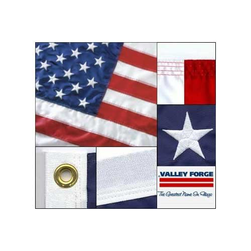 Valley Forge American Flag 2.5ft x 4ft Sewn Nylon Flag by Valley Forge