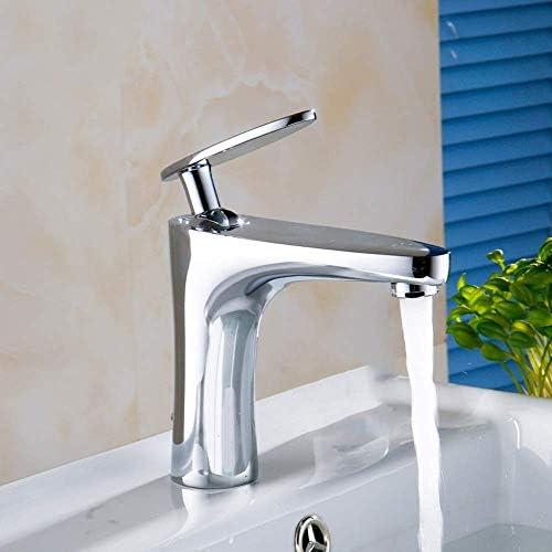S-TING 蛇口 美しく、耐久性のある新すべて-銅流域単穴の蛇口洗面盆地温水と冷水のミキサータップホテル 水栓金具 立体水栓 万能水栓