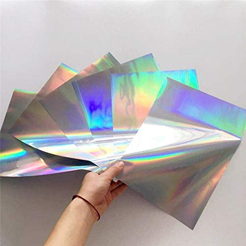 Zozu A4 50pcs Silver Holographic Stamping Foil Paper for Laminator Transfer by Laser Printer minc foil laminator for Sticker (Silver Holographic): Amazon.ca: Home & Kitchen