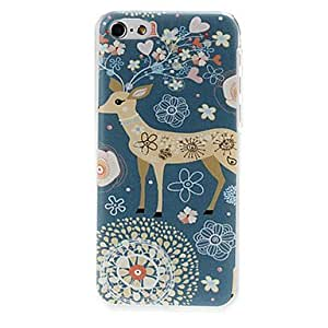 Sika Deer Pattern Plastic Hard Case Cover for iPhone 5C