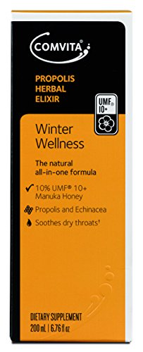 Comvita Manuka Honey Propolis Elixir, Natural Immune Support, 200mL (6.8 fl oz) (Little Colds Honey Elixir)
