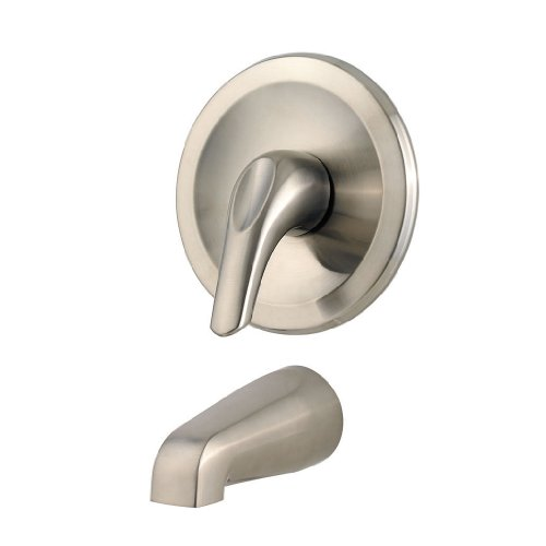 Pfister R89-010K Pfirst Series Tub Only Trim Kit, Brushed Nickel - Collection Lever Handle Tub