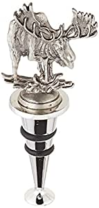 Thirstystone Wine Stopper, Moose, Silver