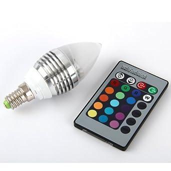Aitao E14 RGB LED Lampe Birne Licht Leuchtmittel 16 Farbe Farbwechsel Mit  Fernbedienung / 3W 110