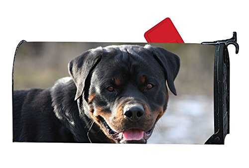 FunnyLife Personalized Mailbox Makeover Cute Rottweiler With Its Tongue Out Mailbox Covers Garden,Outdoor,Yard Magnetic