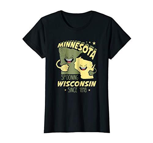 Womens Green Bay Shirt - Wisconsin tshirt - Minnesota tshirt Small Black -