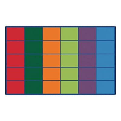 Carpets for Kids 4034 Colorful Seating Rows Kids Rug Size x x, 8'4' x 13'4', Multicolored