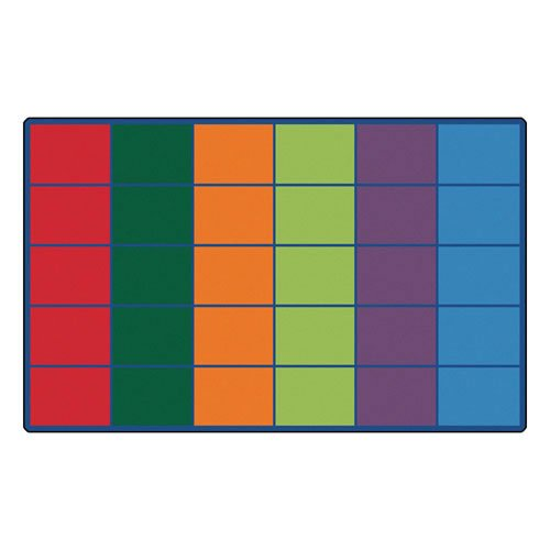 Carpets for Kids 4034 Colorful Seating Rows Kids Rug Size x x, 8'4' x 13'4' , Multicolored by Carpets for Kids