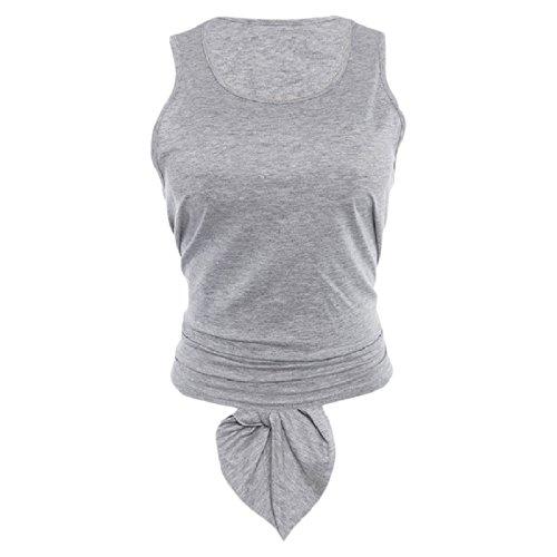 くさびひばり貸し手Nicellyer 女子スポーツの純粋な色のカットアウトバックベストタンクトップシャツ
