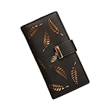 TELLM Lady Women Clutch Wallet Long Purse Wallet Black