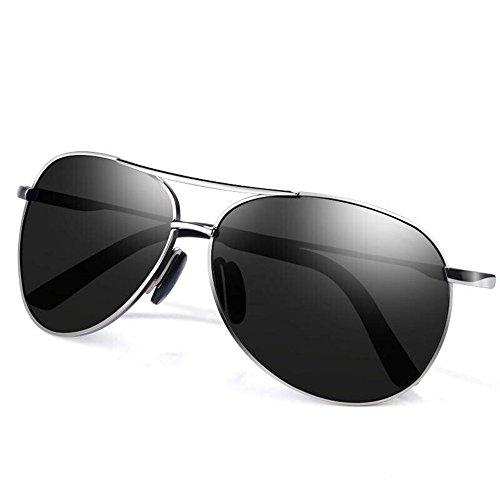 Semi Rimless Polarized Sunglasses,Moozhi UV 400 Protection sunglasses for Men Half Metal Women BLACK