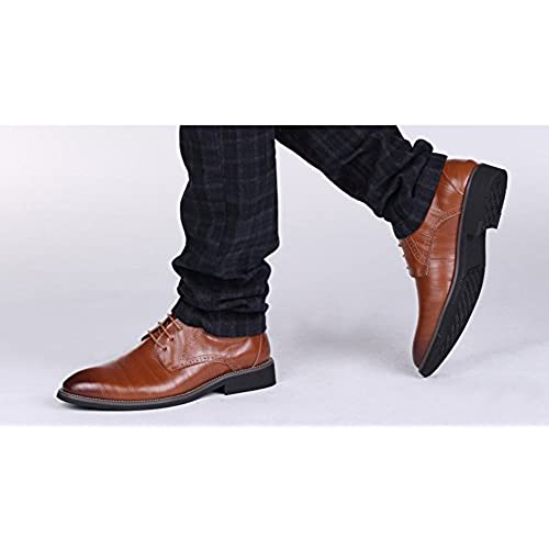 ff236e830589 ChicWind Men's Classic Modern Oxford Shoes Lace Up Leather Dress ...