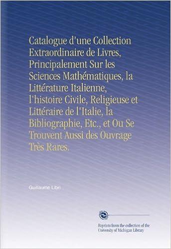 Catalogue D Une Collection Extraordinaire De Livres