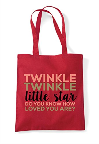 Star Twinkle Little Shopper Loved Are Bag Know You Do Red How Tote SSaq5