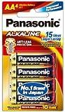Panasonic Battery Alkaline LR6TDG/4B 1.5V AA Battery (Multicolor)