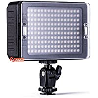 Zeadio Super Bright Bi-Colour Dimmable Camera Camcorder Video LED Light, 3200-5600K for Canon, Nikon, Pentax, SONY, Panasonic, Samsung and Olympus Digital SLR Camera Camcorder