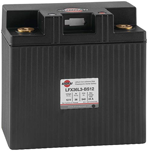 - Shorai Xtreme-Rate LifePO4 LFX Duration Battery LFX36L3-BS12