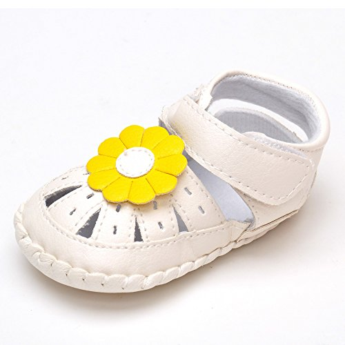 Bebé Niña Zapatos de verano infantil Sandalias tamaños de US, - caqui, 13-18 Months Amarillo girasol
