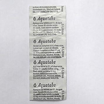 100 Aquatabs ® 67mg Water Purification Tablets 1 Tablet per 8-10 Litres Camping
