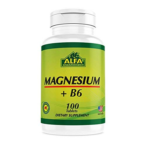 Magnesium Plus B-6 500 Mg 100 Tablets - Cardiovascular Health - Muscle Weakness - Dizziness