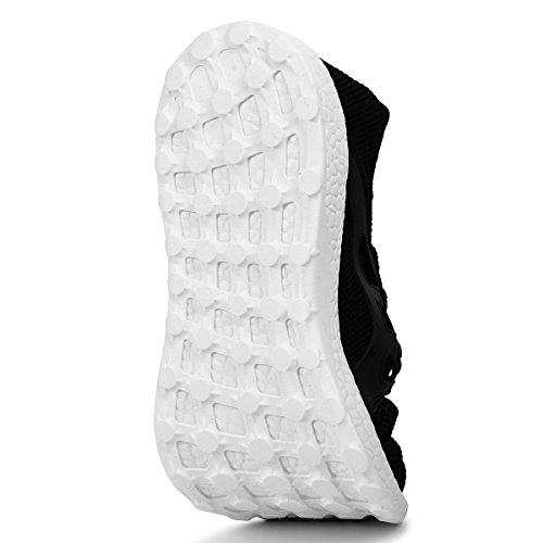 Gym Sneakers Shoes White Womens Black Mesh Walking Lightweight Sport Ultra Mxson Breathable wR5pq0pC