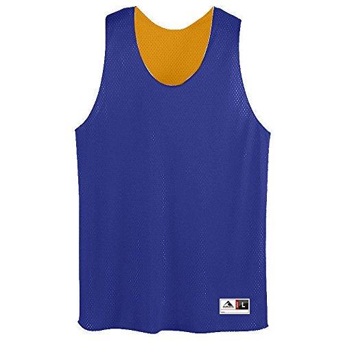 Cotton Reversible Jersey - Augusta Sportswear Men's Tricot mesh Tank, Purple/Gold, Medium