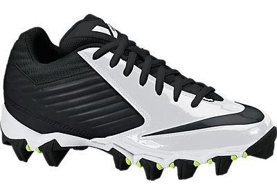 Boy's Nike Vapor Shark Football Cleat (1Y-6Y) Black/White/Volt/Black Size 3 M US
