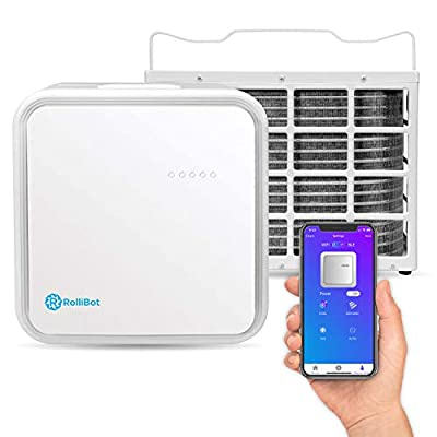 RolliCool 10,000 BTU Mini Split Quiet Ductless Air Conditioner with Dehumidifier, Cooling, Fan, Smart App & Remote Control for Rooms up to 450 sq ft