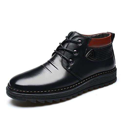 Bottes Chaud De Pour Hommes Business Bottes Coton Black De Air LINYI Cachemire Casual Neige Plein H4wqg85