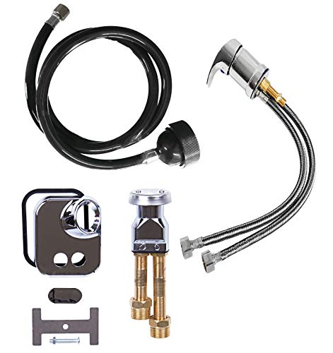 Faucet, Spray Hose and Vacuum Breaker Kit for New or Replacement Repair Shampoo Bowl Parts and Fixtures by eMarkBeauty