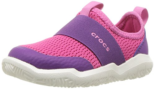 Crocs Kinderswiftwater Easy-On Schuh K Slip-On Candy Pink/Amethyst
