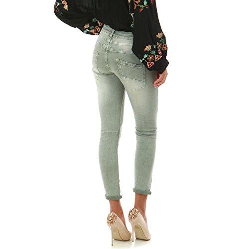 Slim La Clair gris Vert Vert Jeans froiss Modeuse dlav et rEw7arq