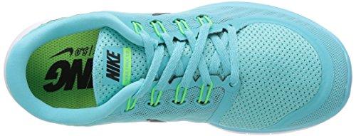 Nike Free 5.0 Damen Laufschuhe Mehrfabig (Light Aqua/Black-Light Retro-Green Glow)