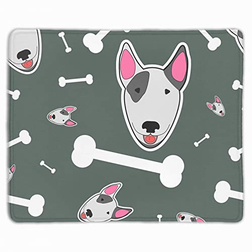 Thick 3mm Gaming Mouse Pad - Personality Mouse Pads with Design - Non Slip Rubber Mouse Mat - with Bull Terrier and - Bull Bone Terrier